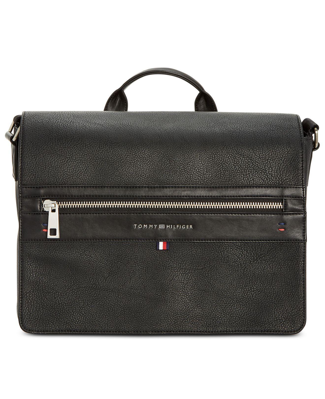 46d32e0694 Lyst - Tommy Hilfiger Leo Messenger Bag in Black for Men - Save ...