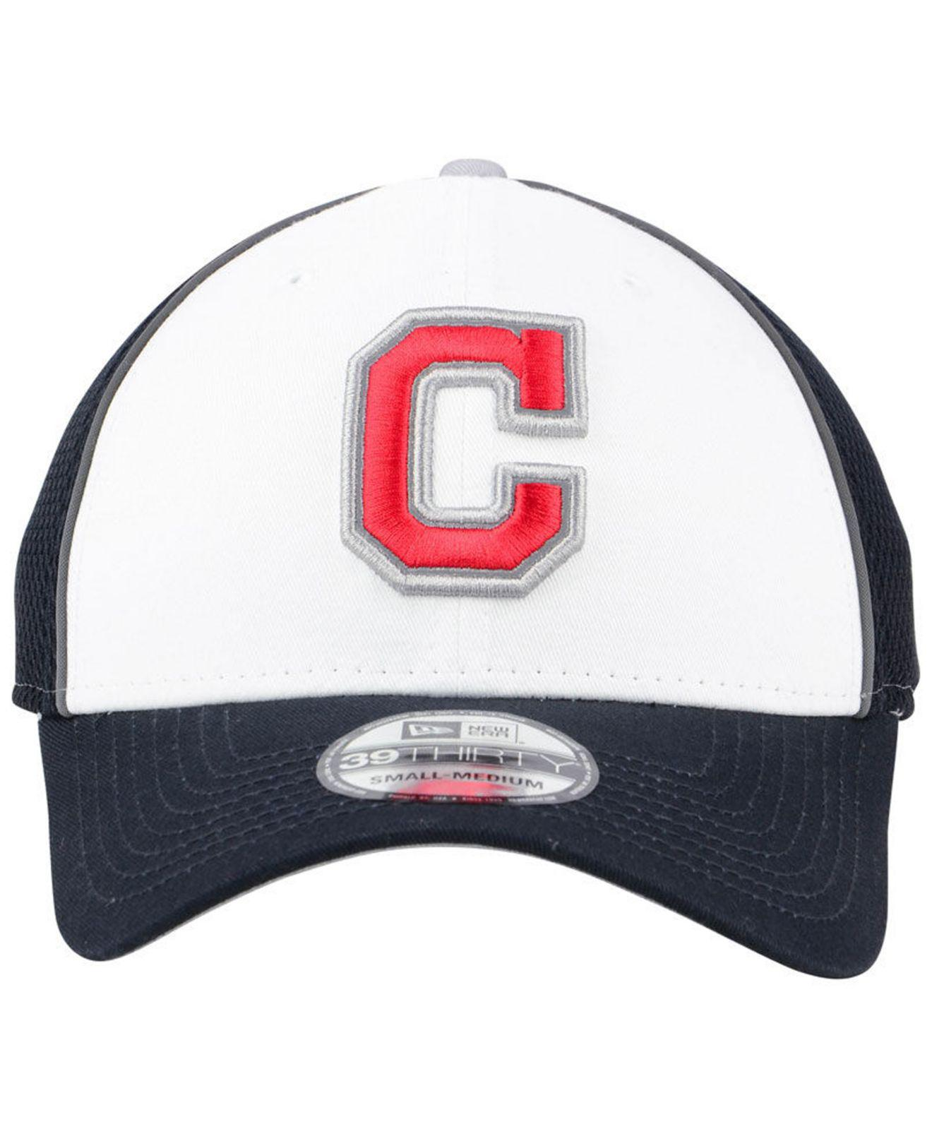 hot sale online 6de2a 3bbe3 ... shop lyst ktz cleveland indians pop reflective 39thirty cap in blue for  men c11c1 c3052