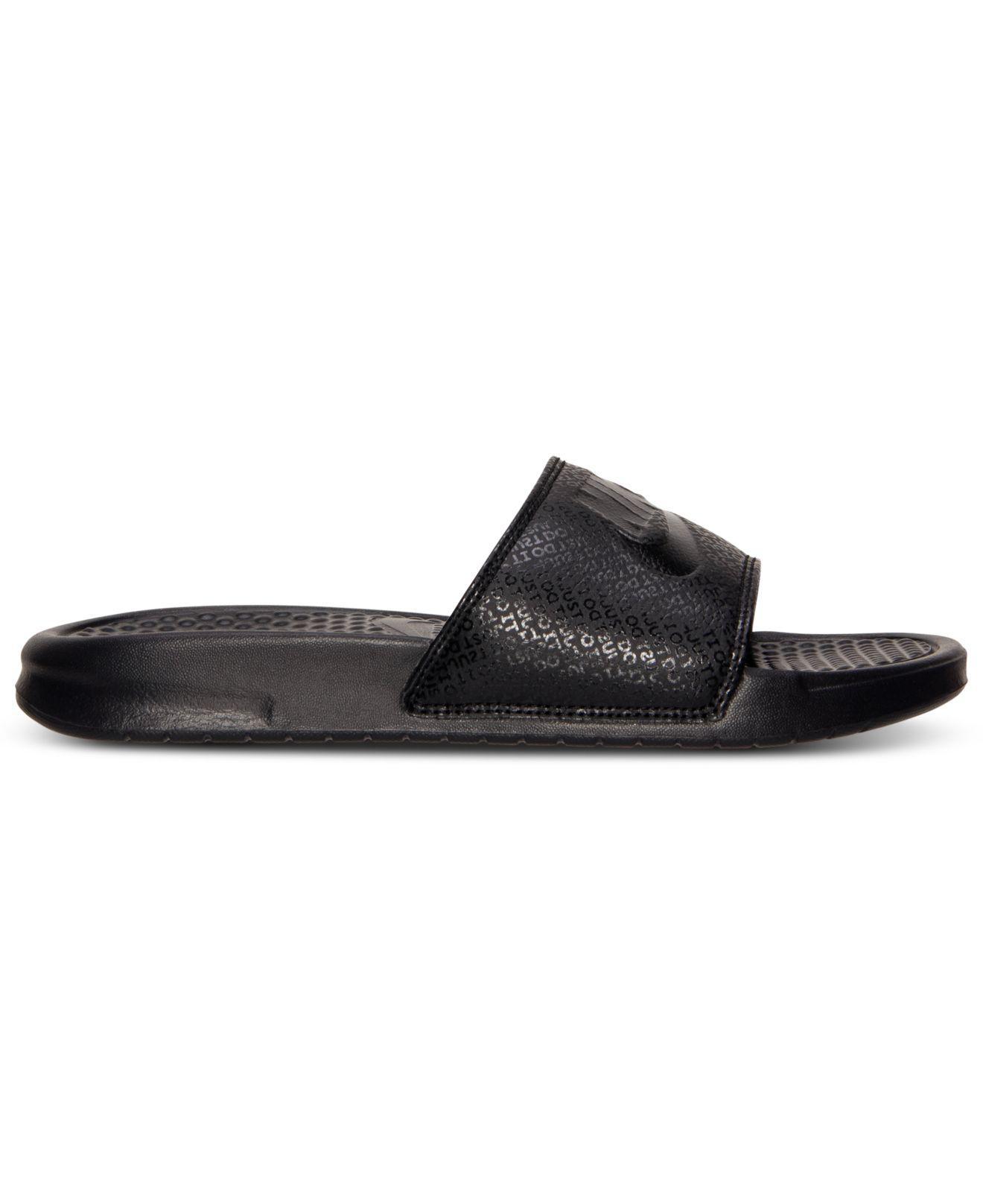 26d917fd01d5 Lyst - Nike Men s Benassi Jdi Slide Sandals From Finish Line in Black for  Men