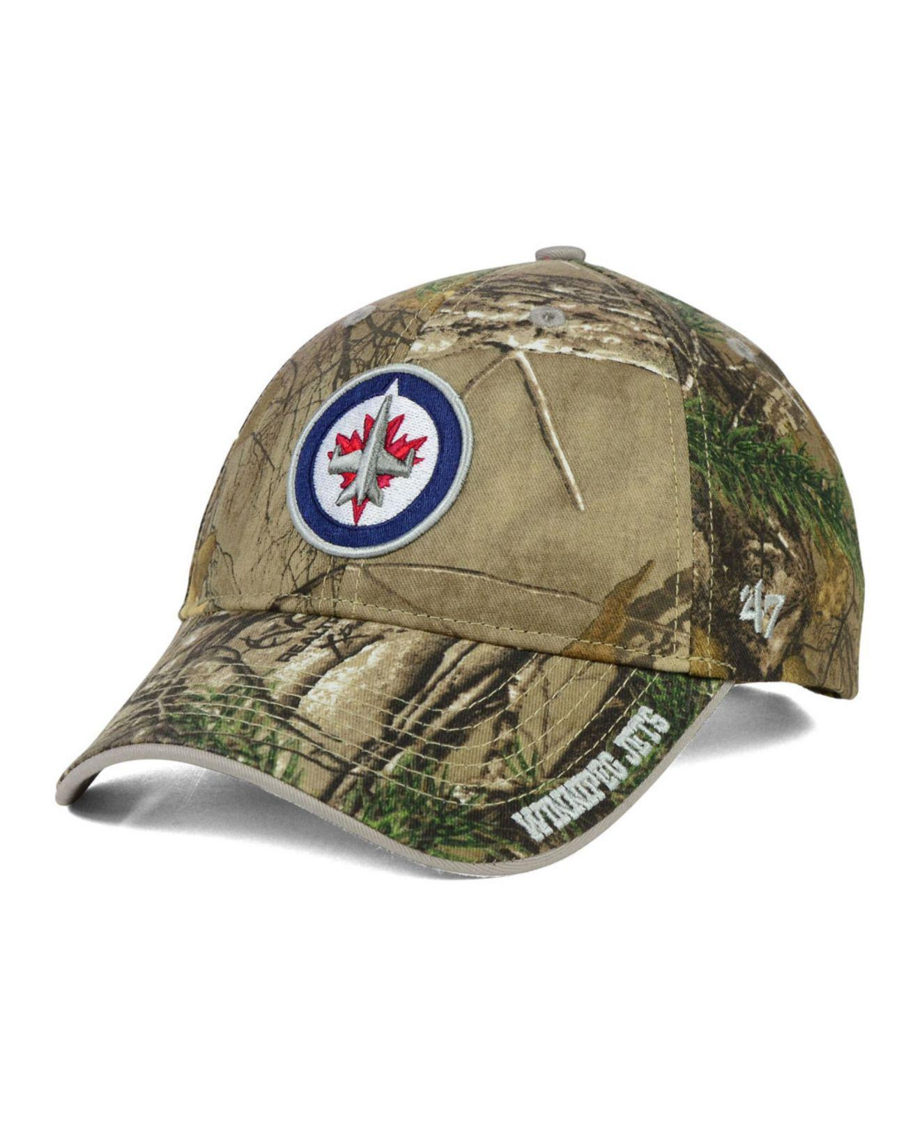 8997b7940a9 ... hat penguins pens nhl pittsburgh pirates pittsburgh 2ab32 6fb00  low  price discount lyst 47 brand winnipeg jets real tree frost cap in green for  men