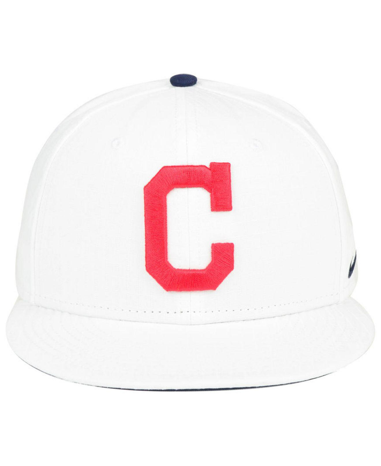 best service 26dae cc241 ... cheap lyst nike cleveland indians white ripstop snapback cap in white  for men a442e e910a
