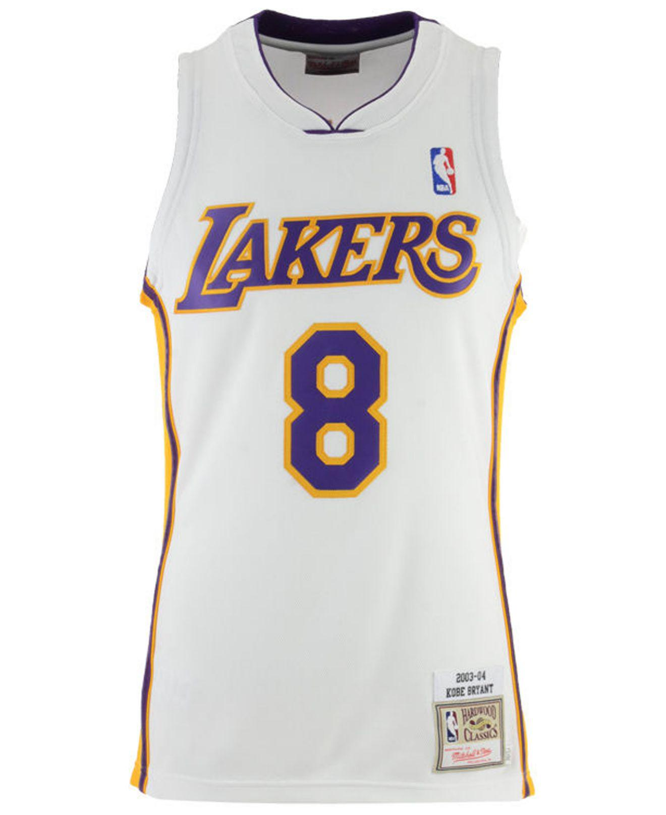 2768112172e Mitchell   Ness - White Kobe Bryant Los Angeles Lakers Authentic Jersey for  Men - Lyst. View fullscreen