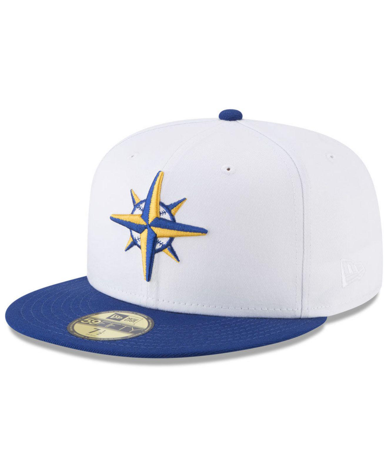 new arrivals a2976 6e662 ... low price ktz. mens white seattle mariners batting practice wool flip 59fifty  fitted cap c9292