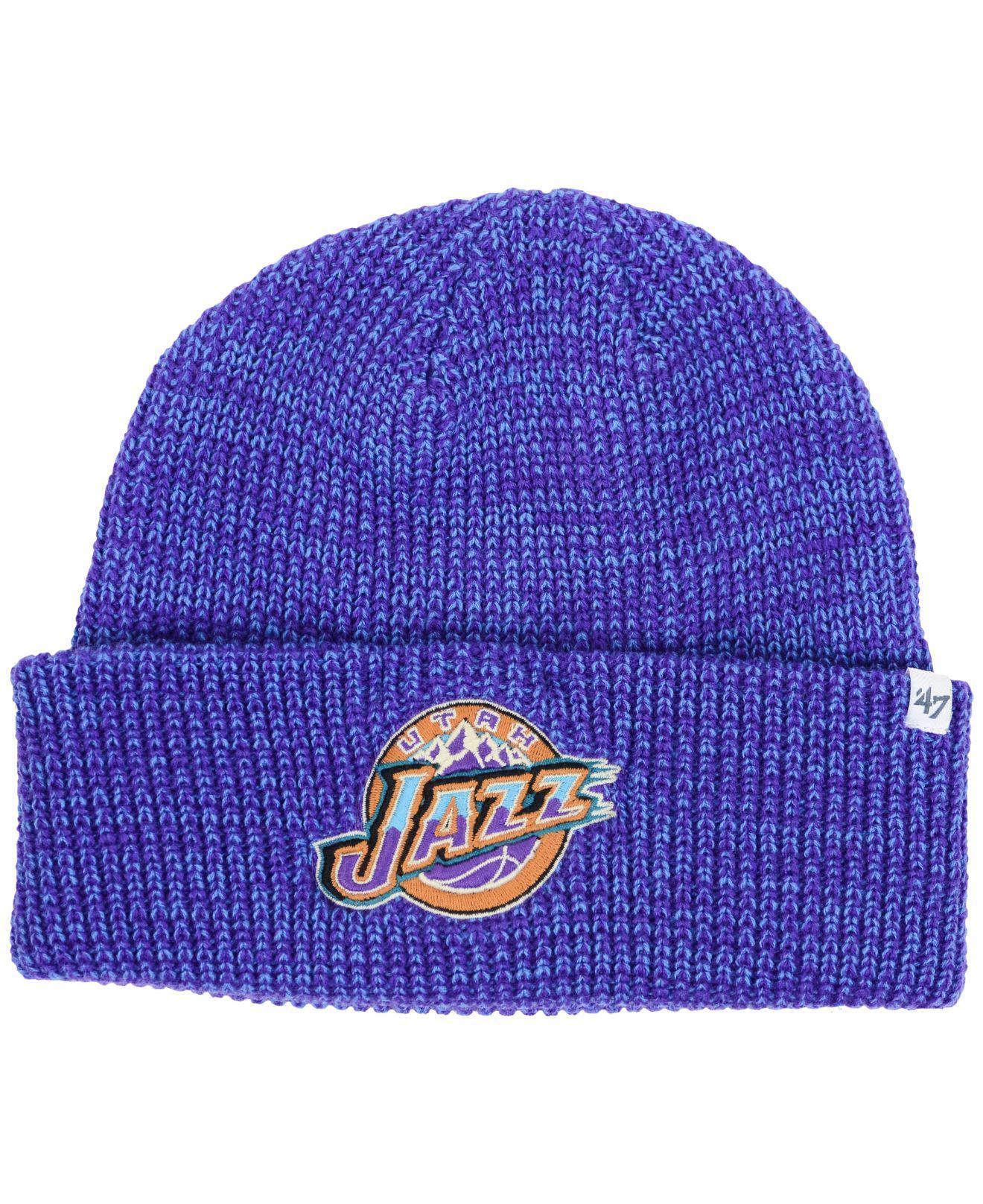 eace0f16340a2 Lyst - 47 Brand Utah Jazz Lancaster Cuff Knit Hat in Purple for Men