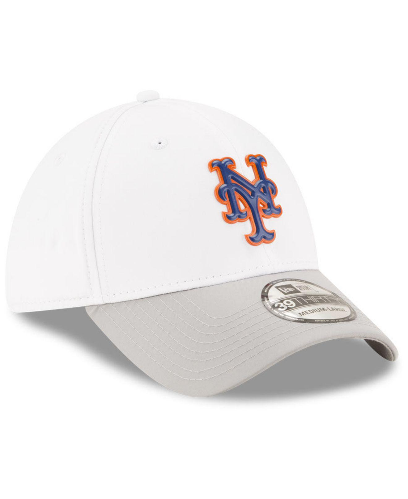 online retailer 799bb 50921 greece ktz new york mets white batting practice 39thirty cap for men lyst.  view fullscreen