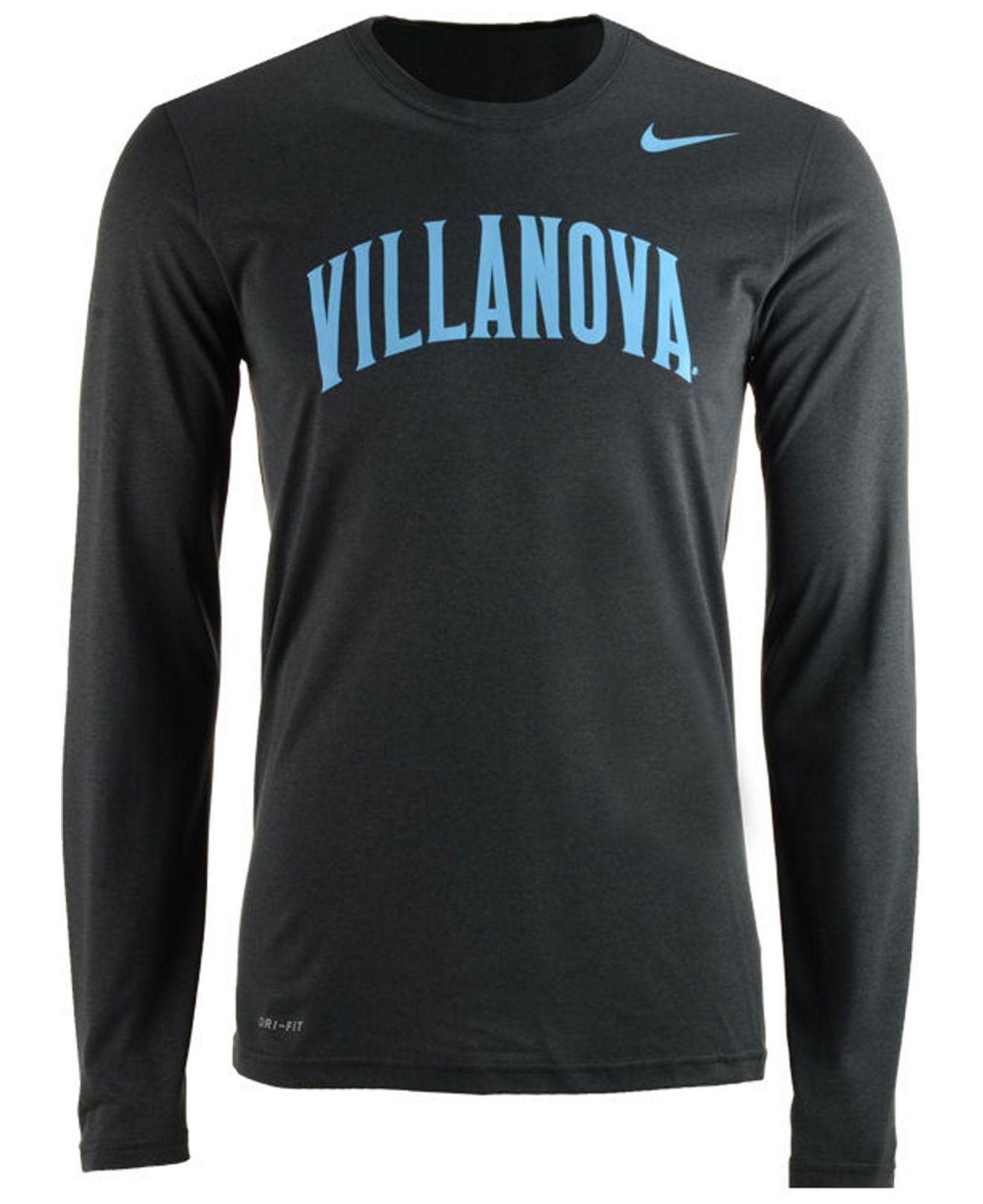 0b17c0ce Nike. Men's Villanova Wildcats Dri-fit Legend Wordmark Long Sleeve T-shirt