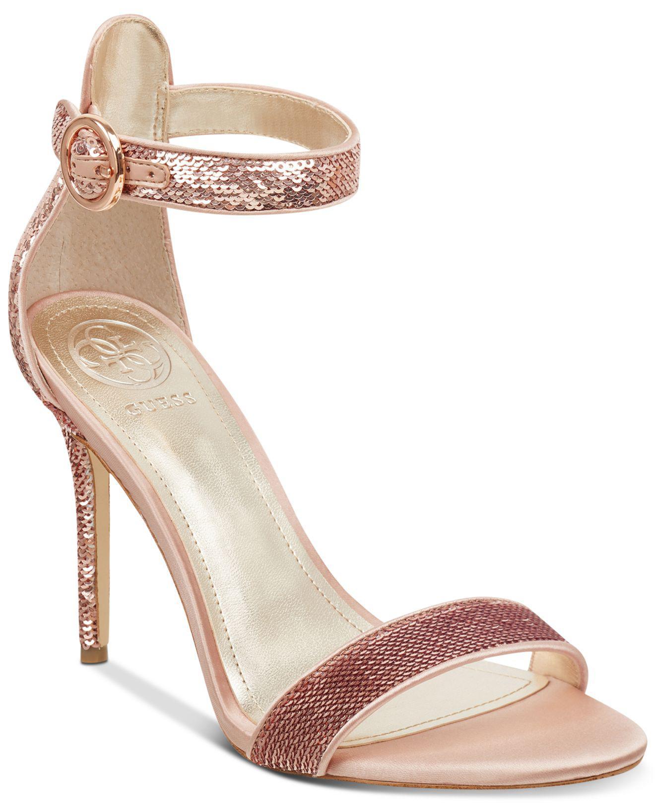 5eedeaa6df5 Lyst - Guess Kahluan Dress Sandals in Metallic
