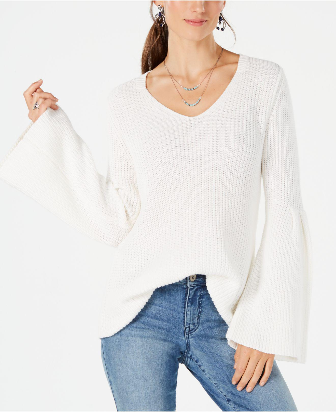 Lyst Style Co Cotton Bell Sleeve Sweater Created For Macys In