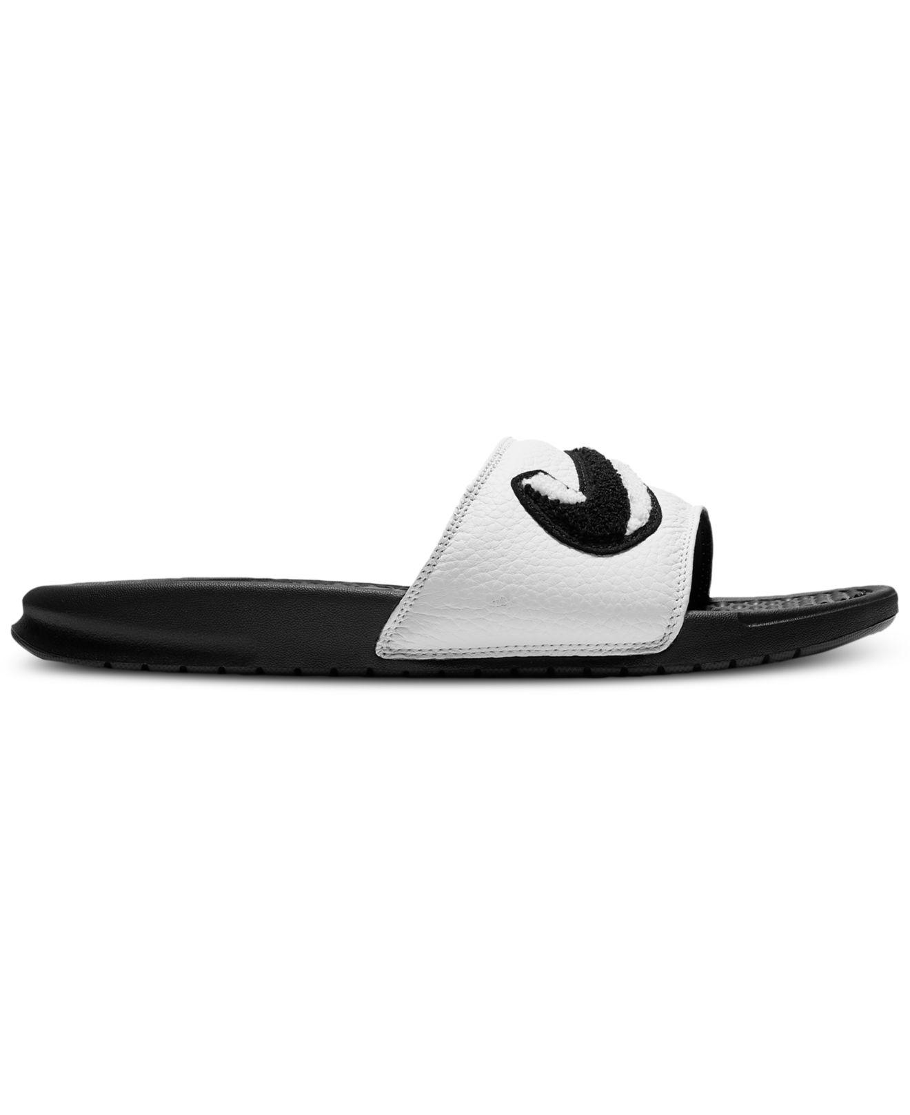 fbe349b8498 Lyst - Nike Benassi Jdi Chenille Slide Sandals From Finish Line in ...