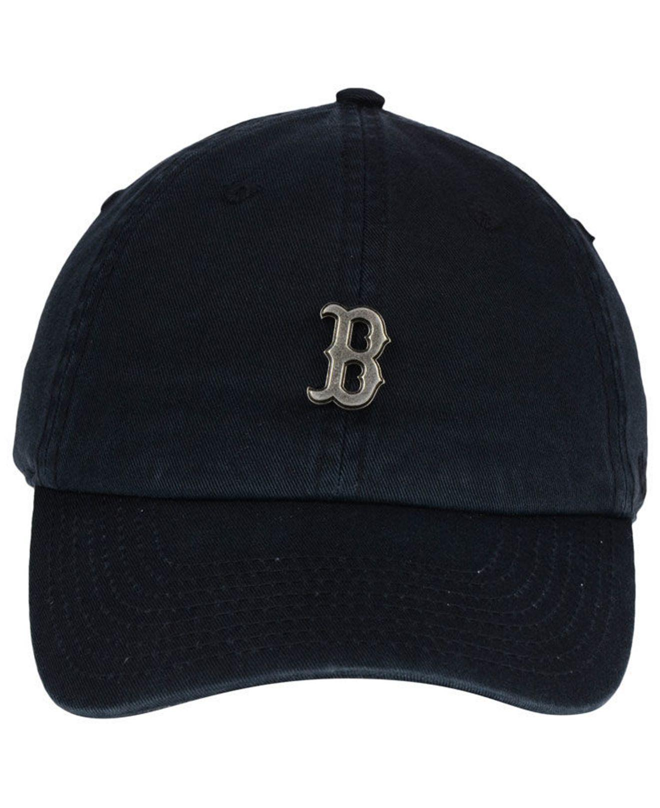 b51db729eba7f Lyst - 47 Brand Boston Red Sox Hardware Clean Up Cap in Black for Men