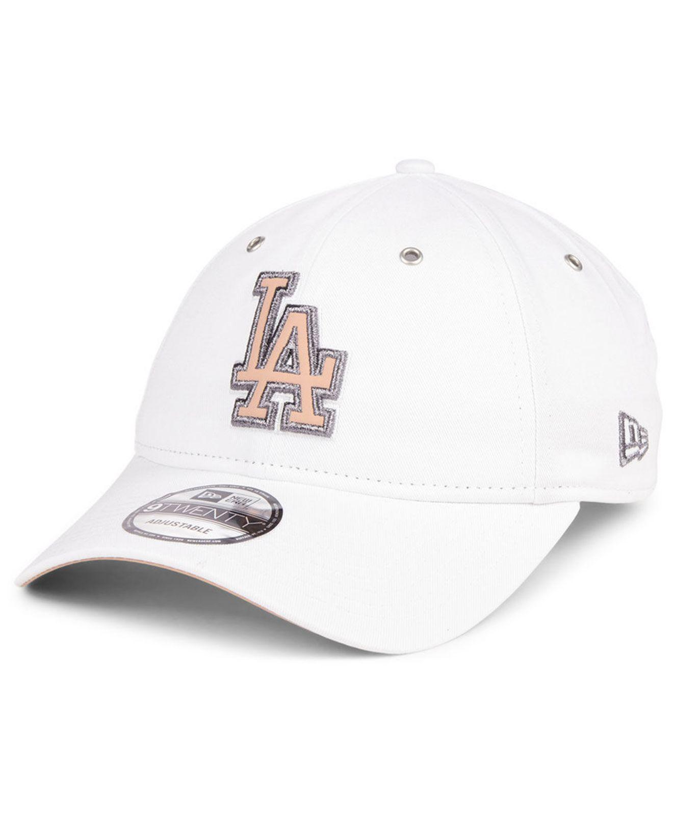 size 40 e440e 9acbf KTZ Los Angeles Dodgers Metallic Pastel 9twenty Cap in White - Lyst