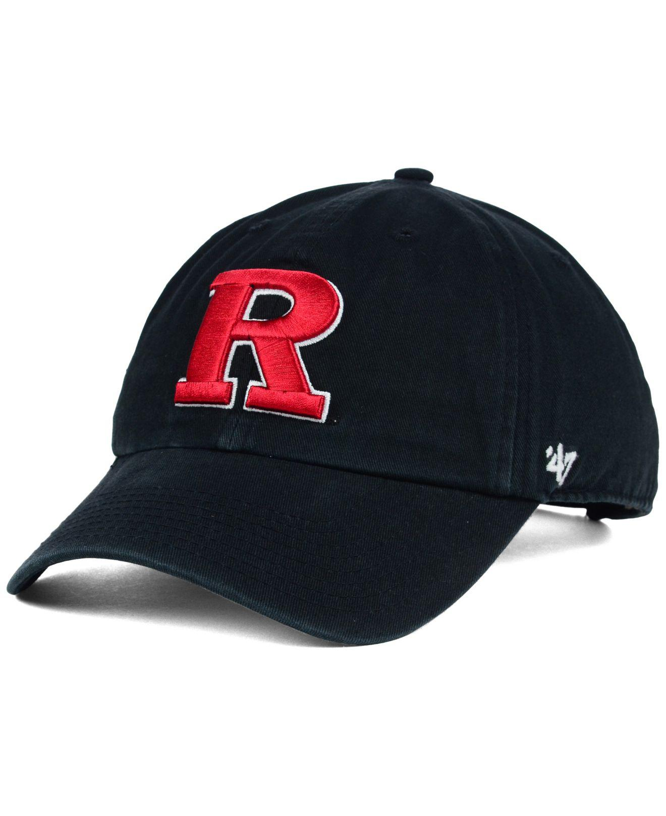 495b724e2d9 Lyst - 47 Brand Rutgers Scarlet Knights Clean-up Cap in Black for Men