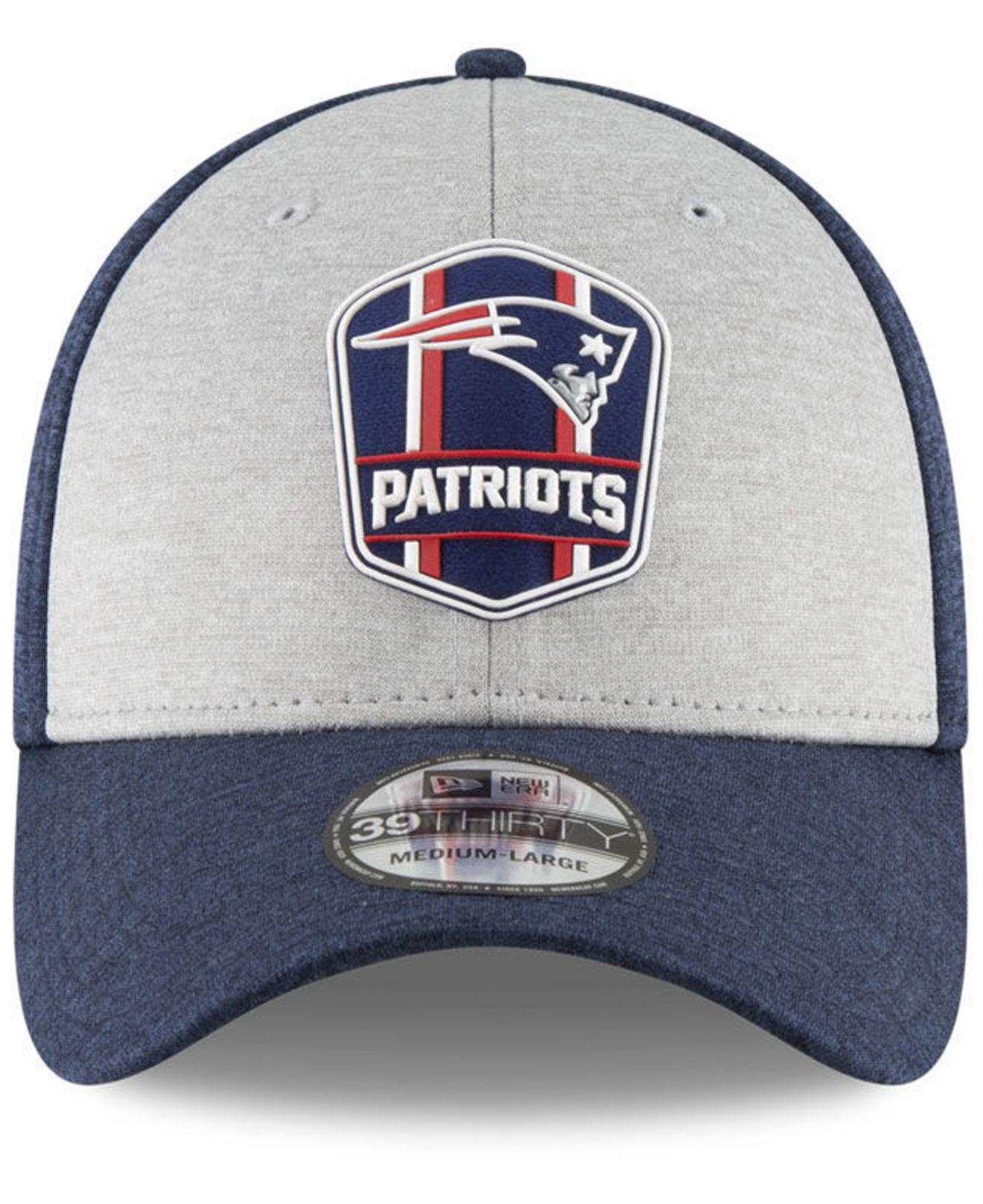 Lyst - KTZ New England Patriots On Field Sideline Road 39thirty Stretch  Fitted Cap in Blue for Men 17341af10