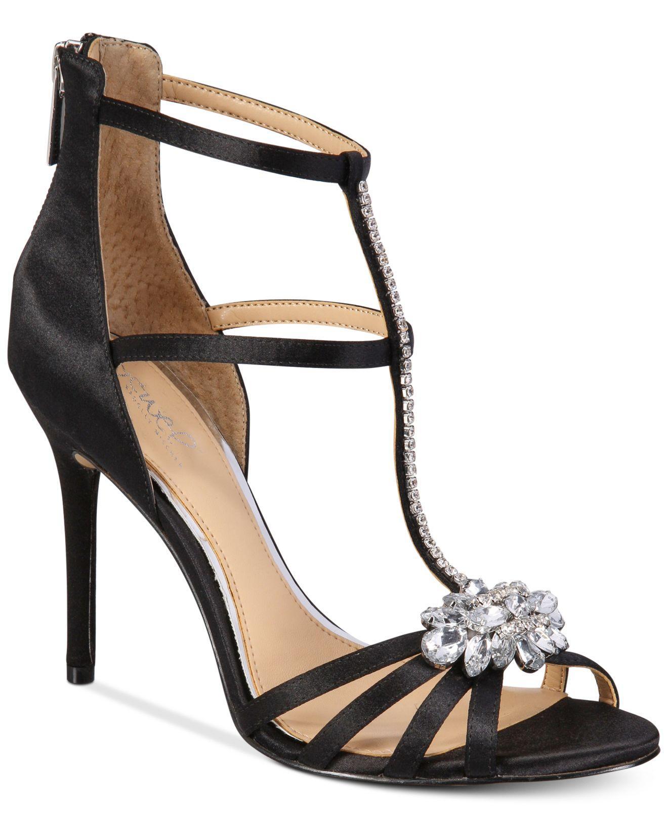 Lyst Badgley Mischka Hazel Strappy Evening Sandals In Black