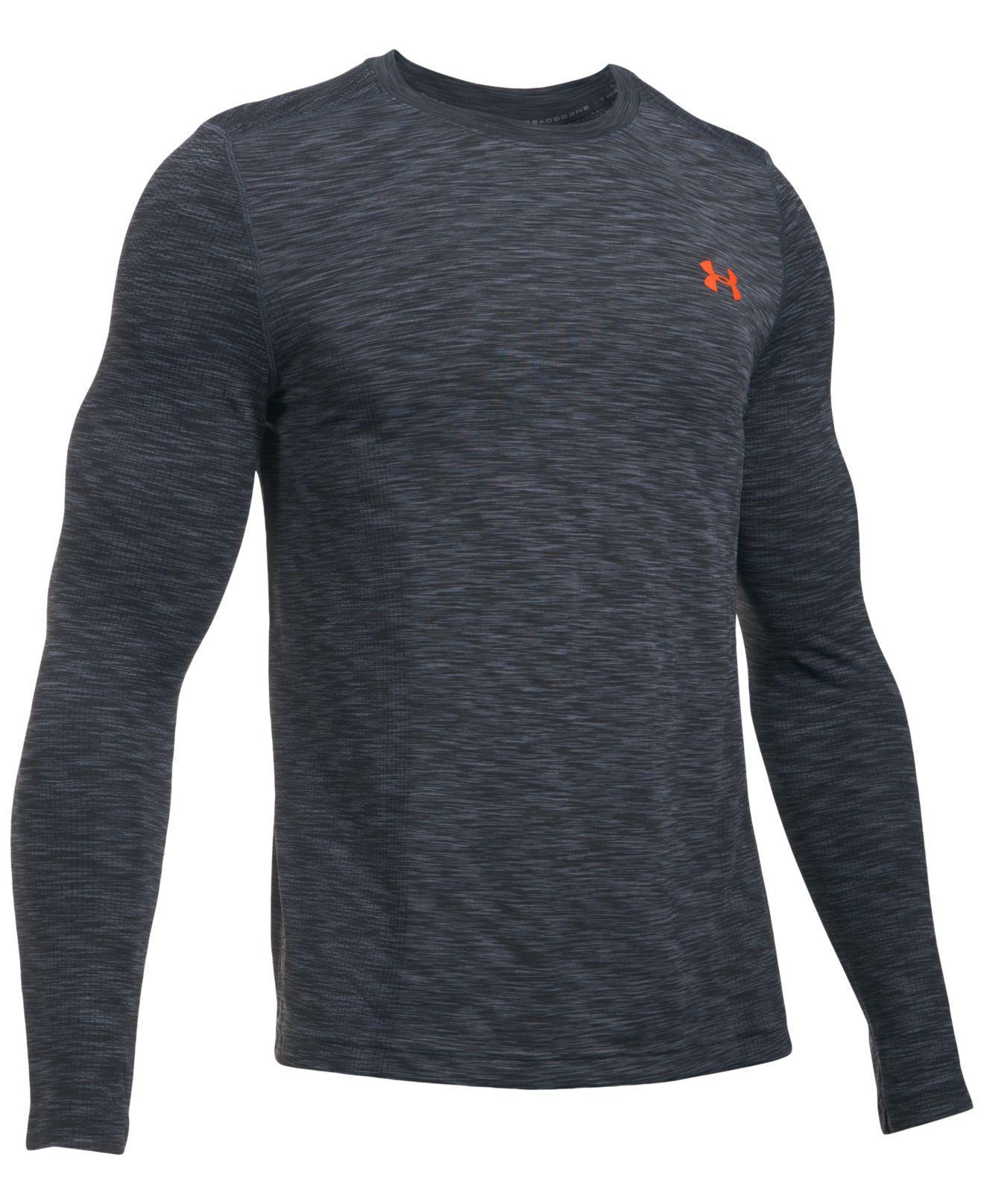 Lyst under armour men 39 s threadborne seamless shirt in for Gray under armour shirt