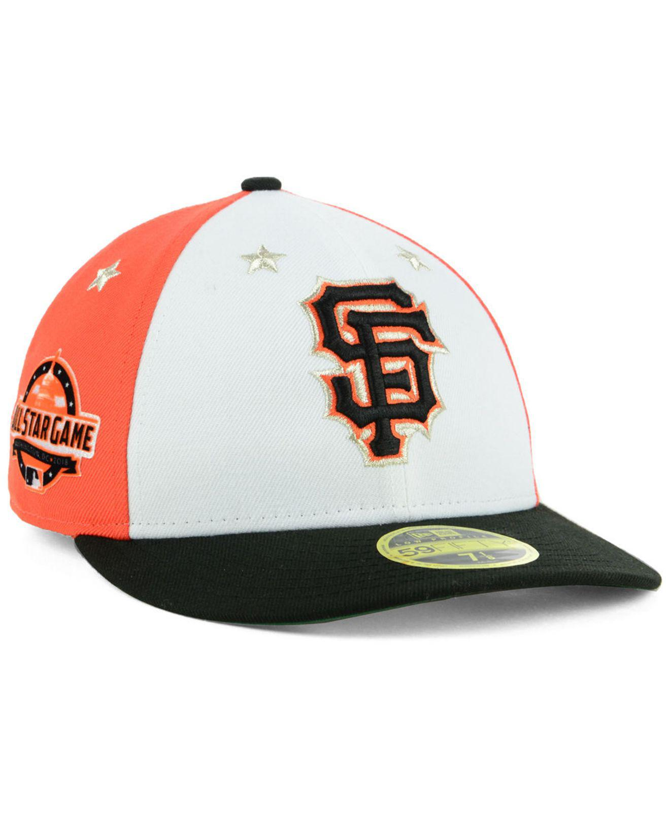 wholesale dealer 89d52 e3f5a KTZ. Men s San Francisco Giants All Star Game Patch Low Profile 59fifty  Fitted Cap 2018