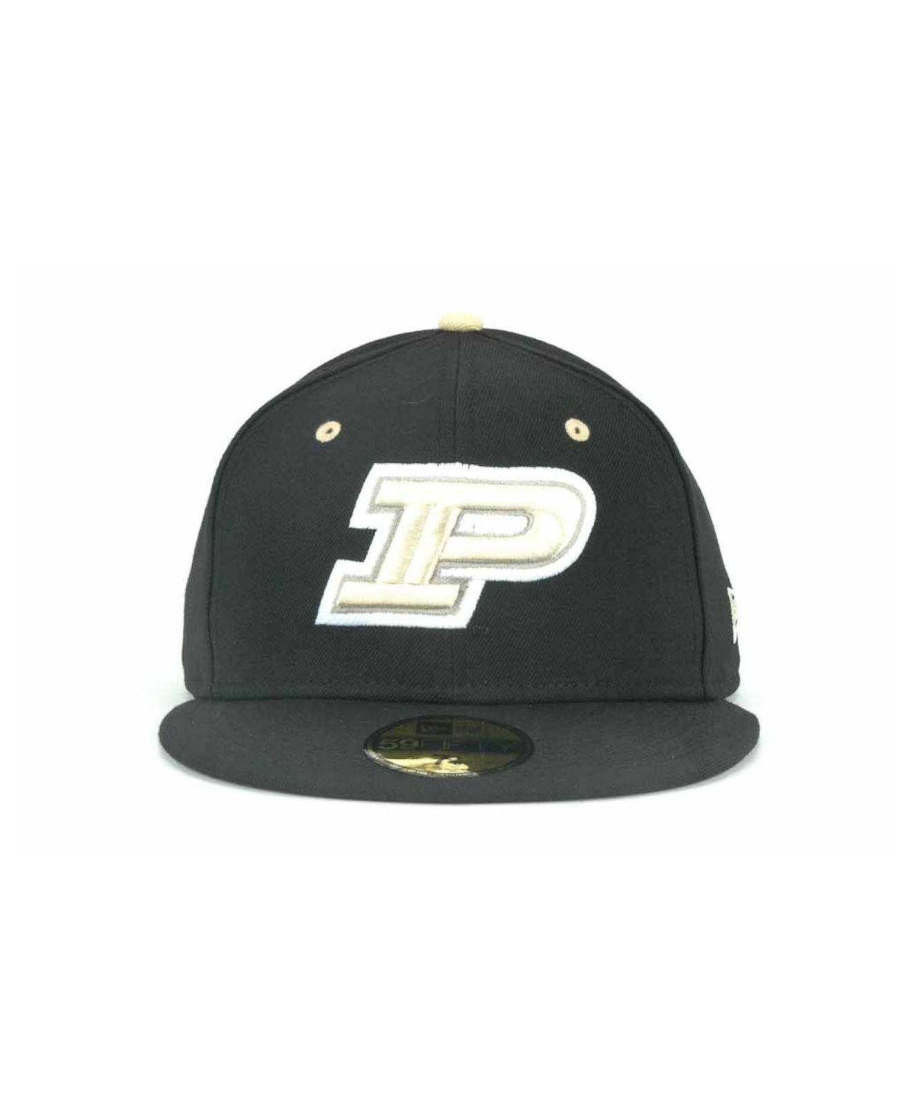 pretty nice 5827e 1a0c4 Lyst - KTZ Purdue Boilermakers Ncaa Ac 59fifty Cap in Black for Men