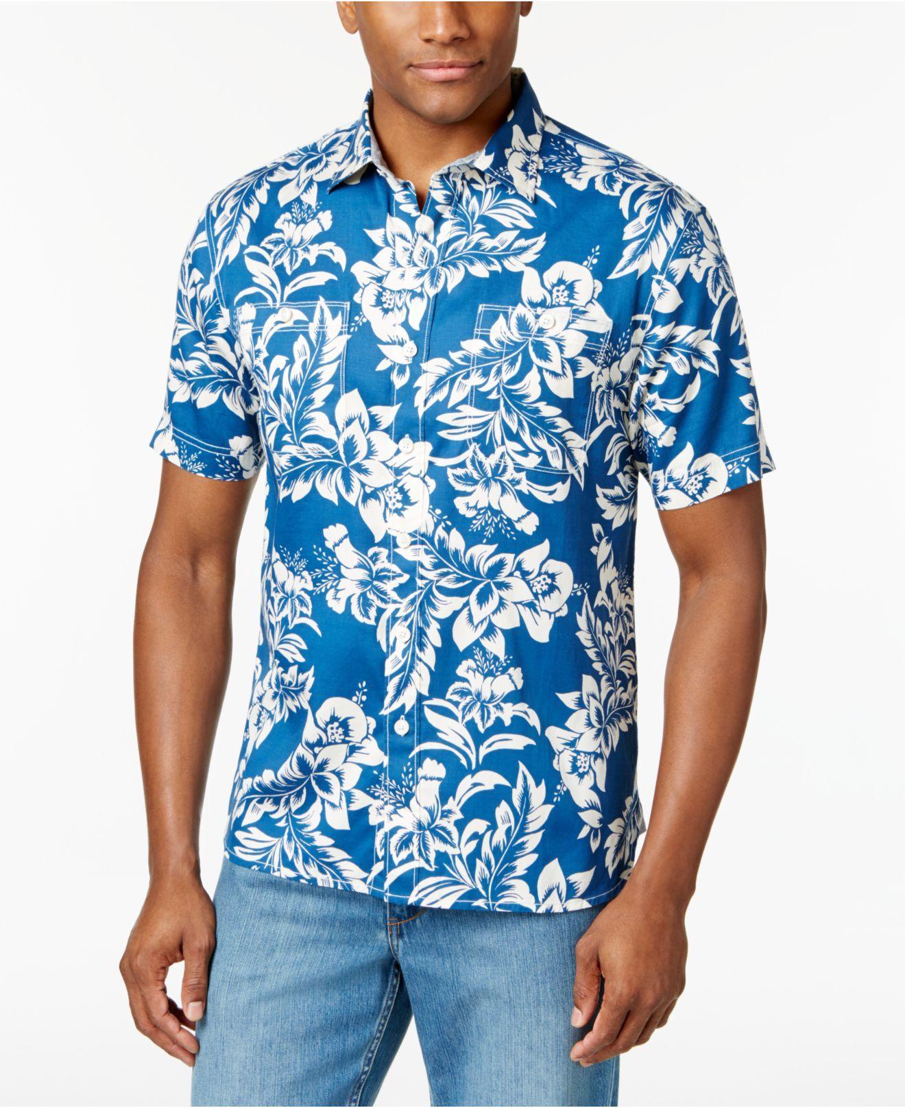 Lyst Tommy Bahama Men 39 S Fiesta Flora Shirt In Blue For Men