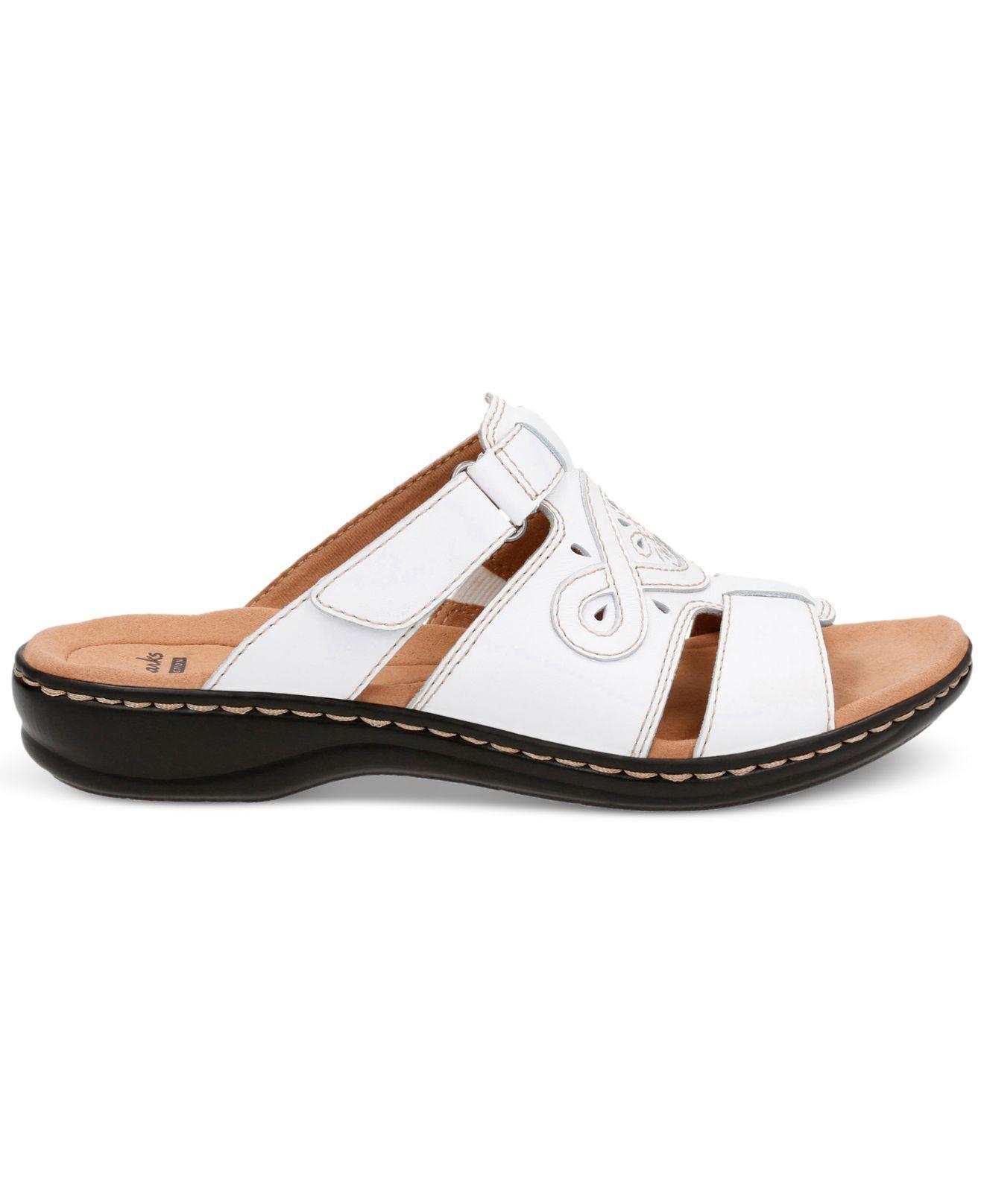 Lyst Clarks Women S Leisa Higley Flat Sandals In White