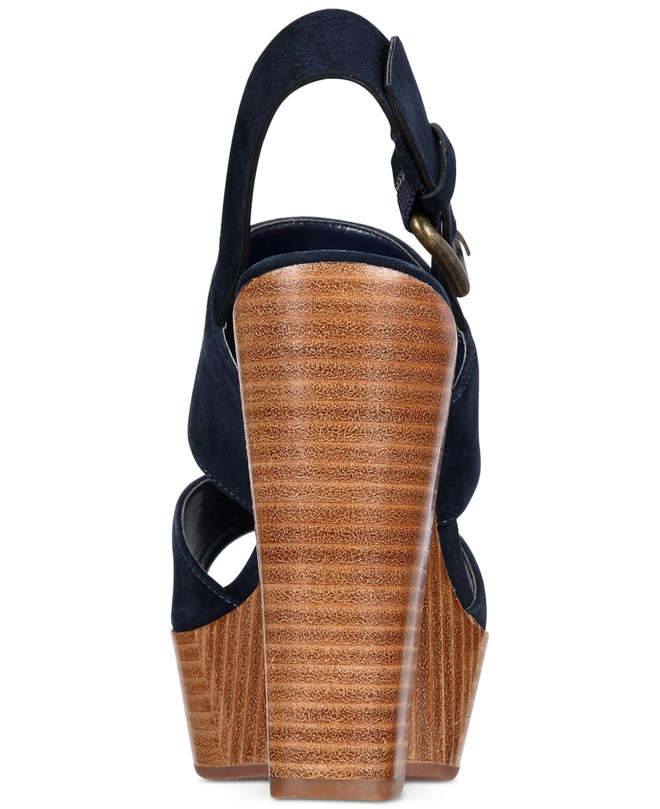 13a4051e1a ALDO Women's Maximoa Platform Block-heel Sandals in Blue - Lyst