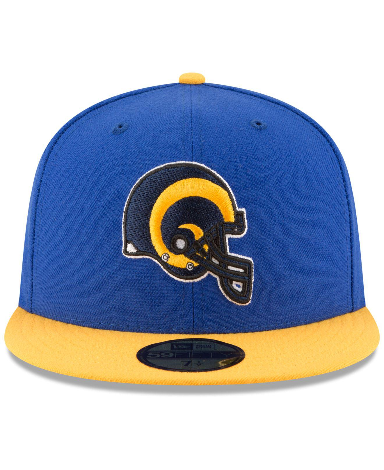 big sale 5004a 0e533 Lyst - KTZ Los Angeles Rams Team Basic 59fifty Cap in Blue for Men