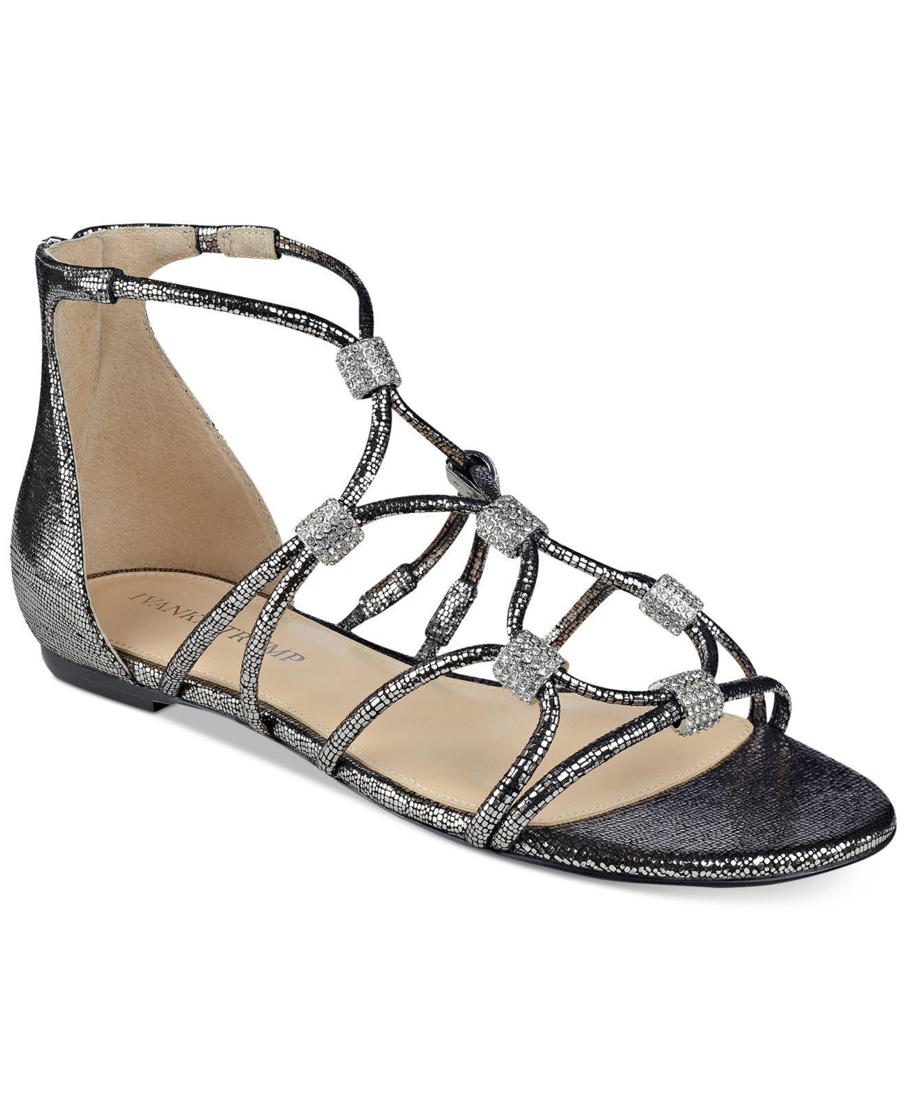 Ivanka Trump Chaley 2 Flat Strappy Sandals Lyst