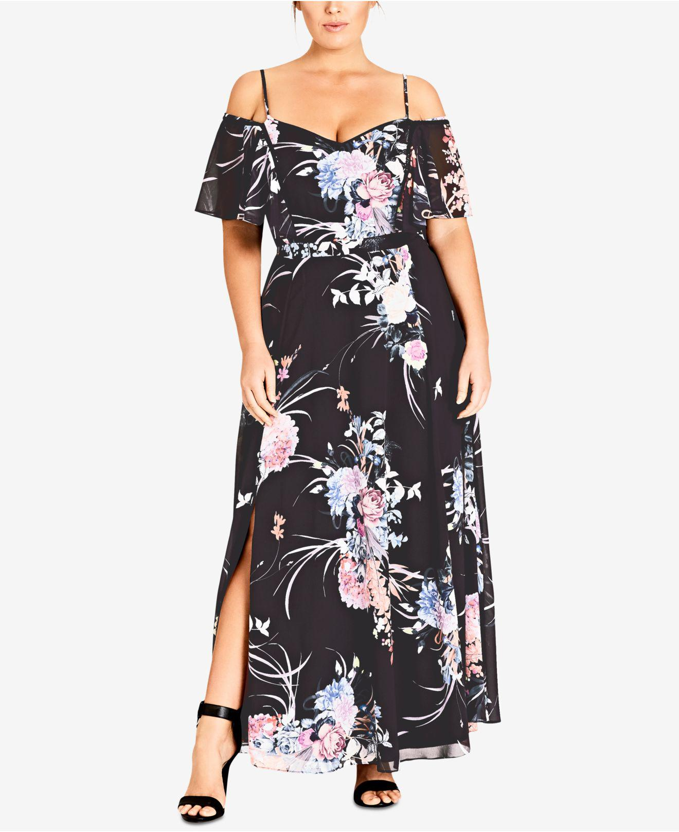 Cold Shoulder Maxi Dress At Macys