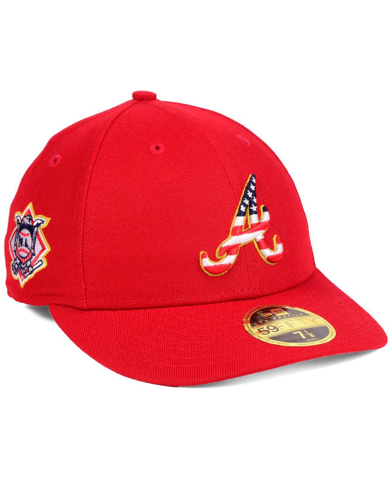 8311302f199 Lyst - KTZ Atlanta Braves Stars And Stripes Low Profile 59fifty ...