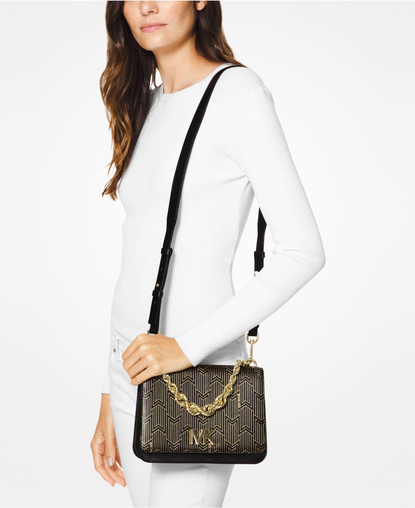 d50543a624ab Michael Kors Michael Mott Metallic Deco Chain Swing Shoulder Bag - Lyst