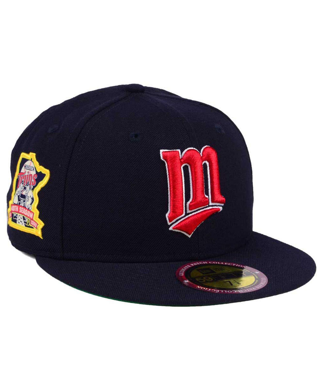 pretty nice f07c4 36673 KTZ Minnesota Twins Ultimate Patch Collection Anniversary 59fifty ...