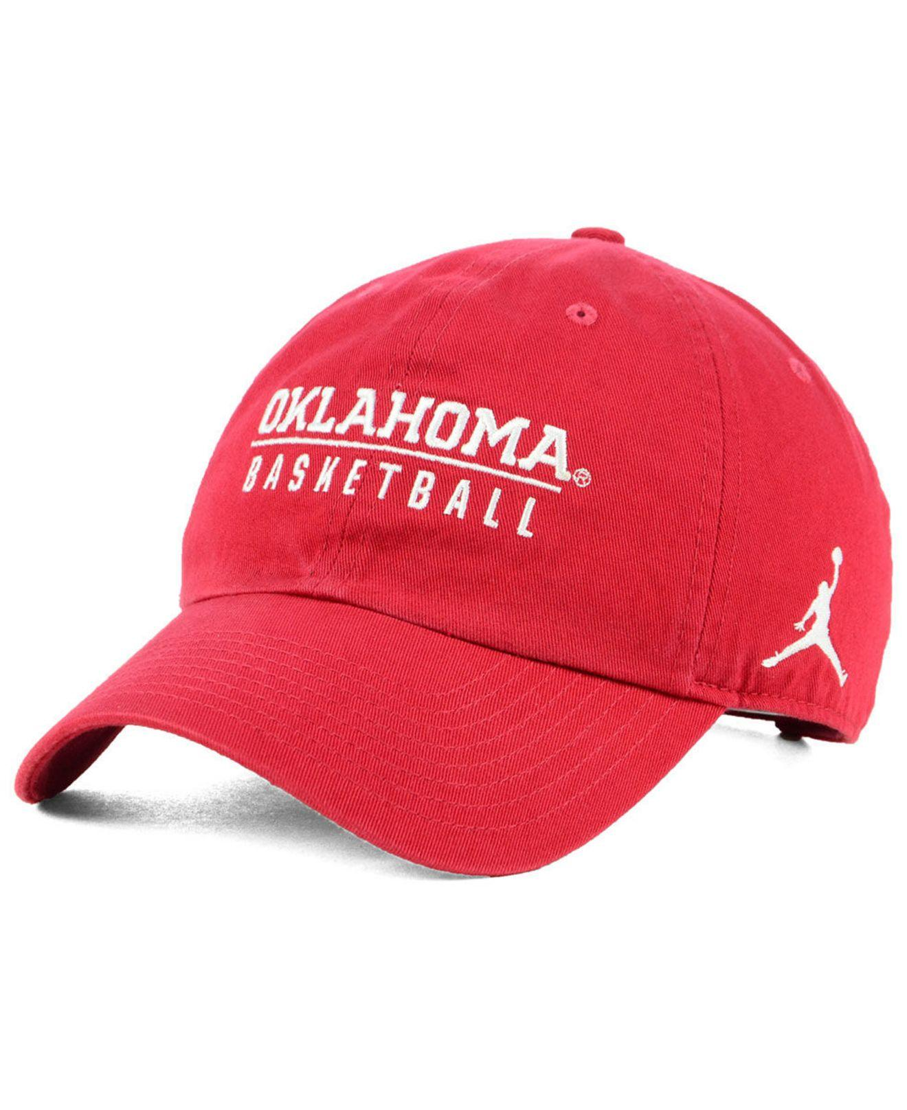 1a5ee165688 Lyst - Nike Oklahoma Sooners Campus Sport Strapback Cap in Red for Men