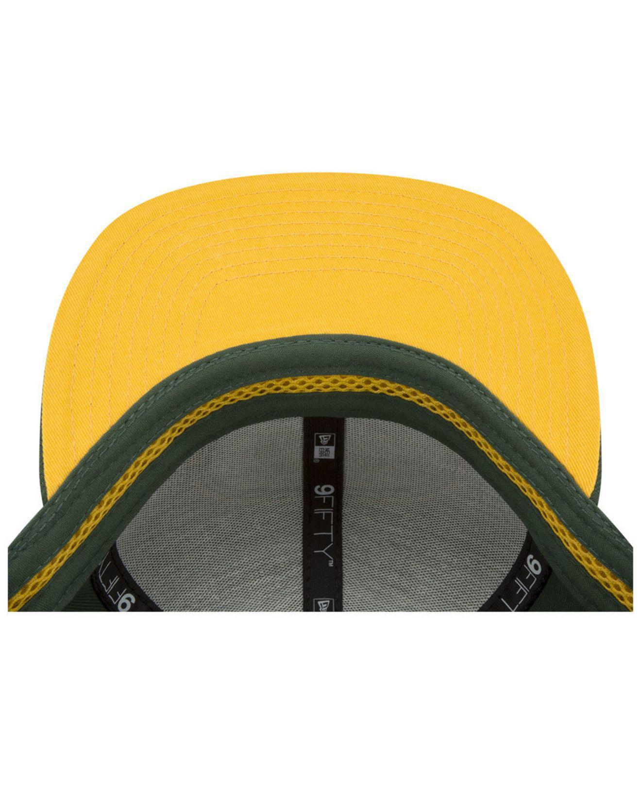 628370baf KTZ - Green Bay Packers Meshed Mix 9fifty Snapback Cap for Men - Lyst. View  fullscreen