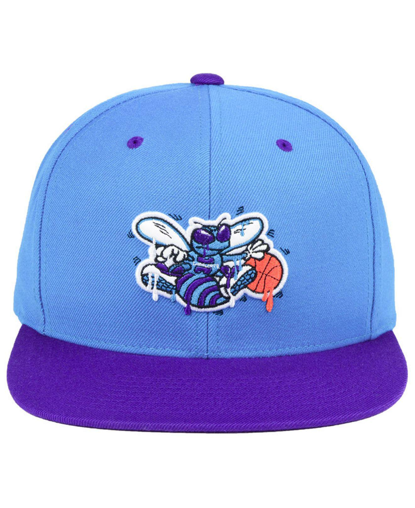 new style a7751 23fca usa oklahoma city thunder mitchell ness nba dripped snapback cap f8d54  1a6ac  buy lyst mitchell ness charlotte hornets dripped snapback cap in  blue for men ...