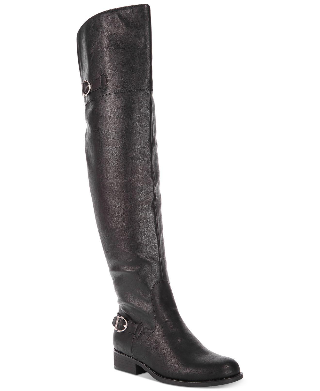 06c1d4e30a19 Lyst - American Rag Adarra Wide-calf Tall Buckle Boots in Black
