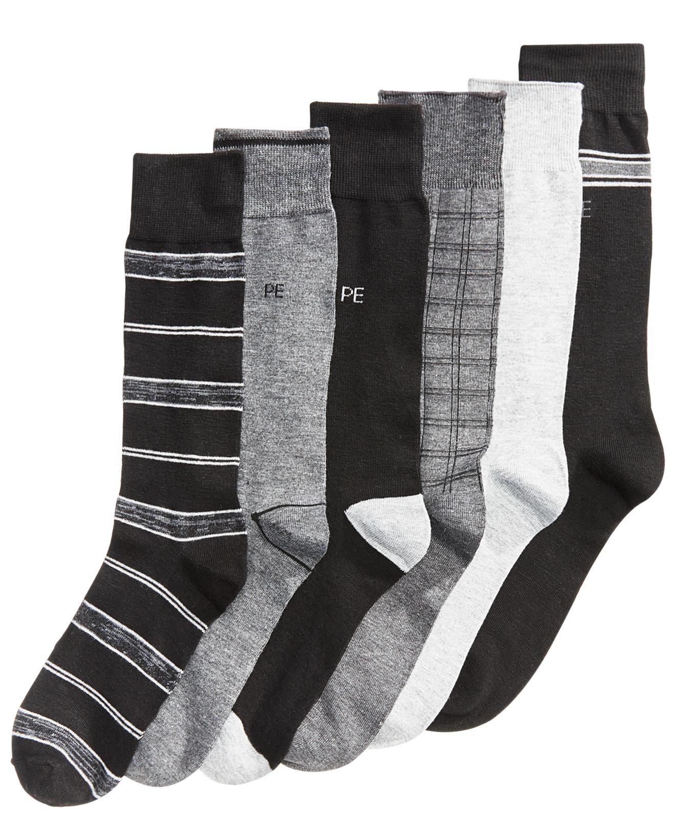 1a755062a1 Lyst - Perry Ellis 6-pk. Performance Dress Socks in Black for Men