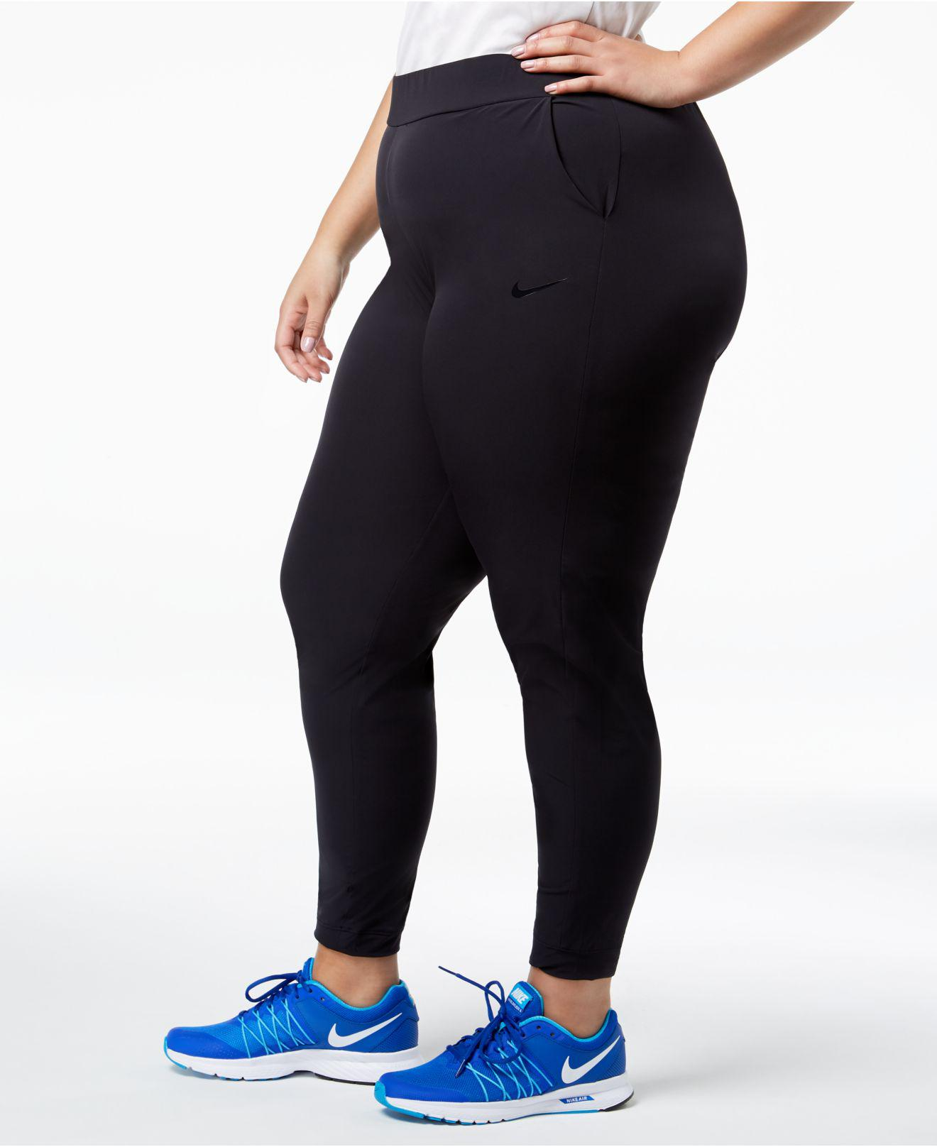 5d37aaa9e6e Lyst - Nike Plus Size Flex Bliss Pants in Black