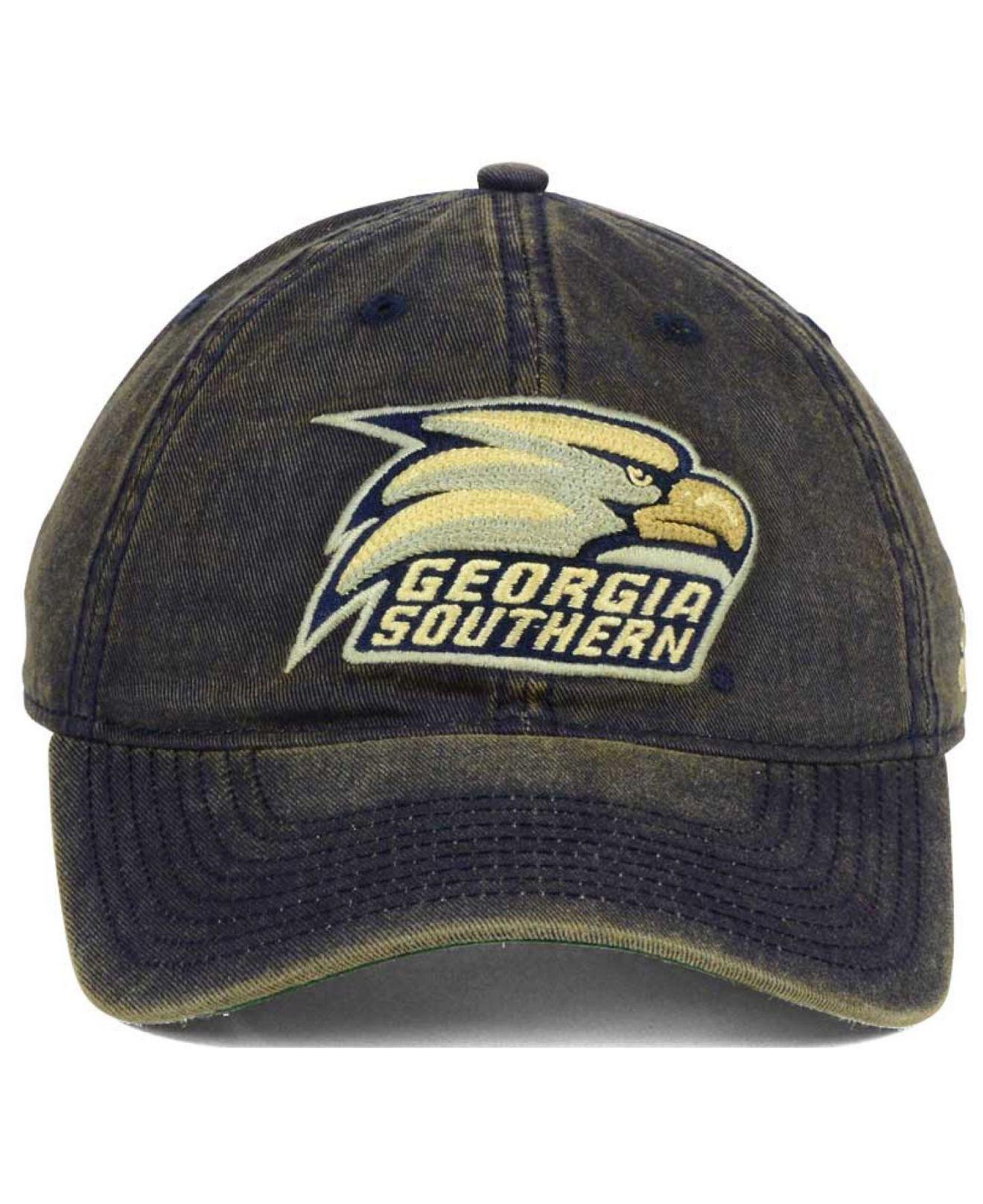 big sale a0774 cbfa0 ... official store lyst adidas georgia southern eagles over dye slouch cap  in blue 4cb52 ab164