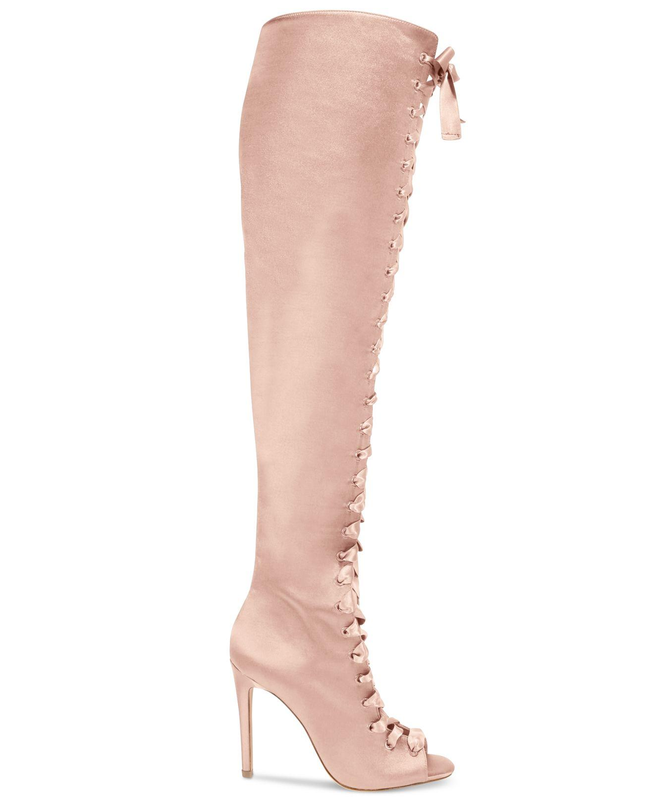 0def8f6cabc Lyst - ALDO Cherisse Lace-up Over-the-knee Boots in Pink