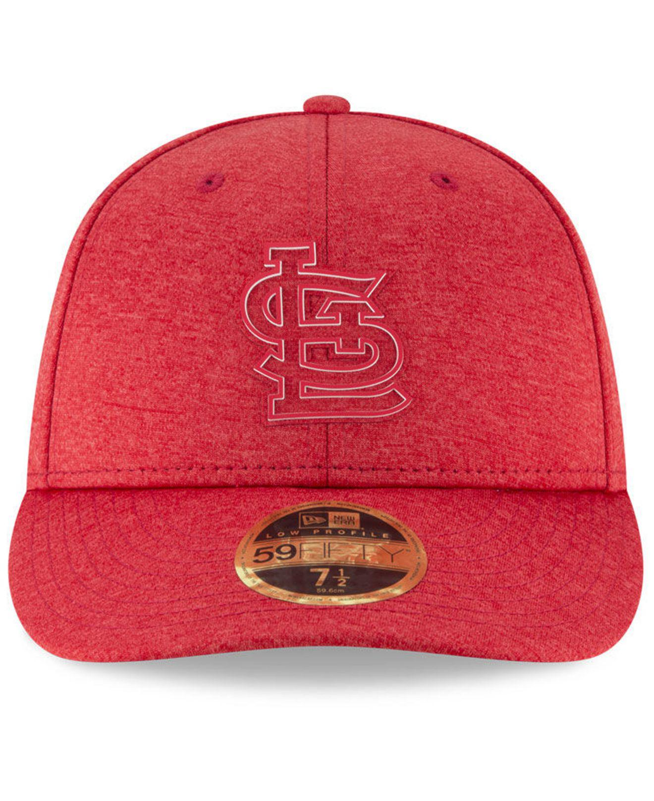 best service 16843 d87a6 Lyst - KTZ St. Louis Cardinals Clubhouse Low Crown 59fifty Fitted Cap in Red  for Men