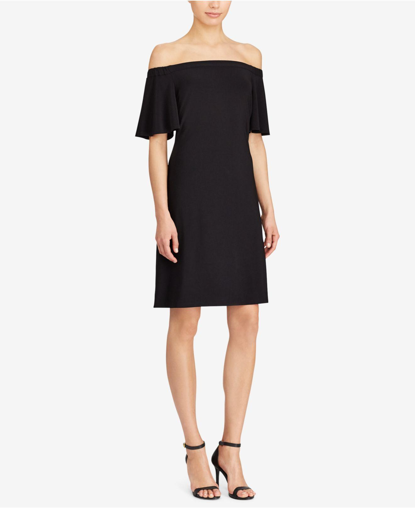 Lyst American Living Jersey Off The Shoulder Dress In Black