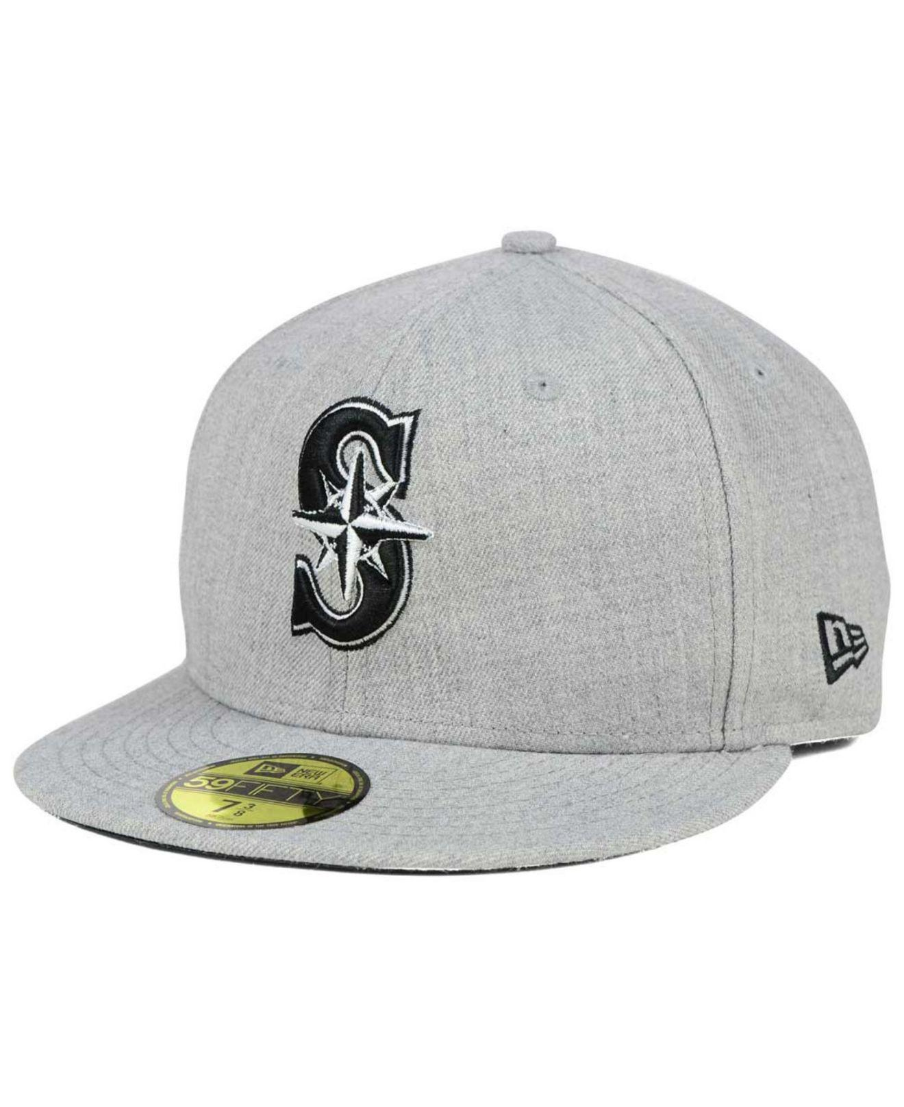 ... sweden ktz. mens gray seattle mariners heather black white 59fifty cap  d7dfd e4056 dd9359ac4f89