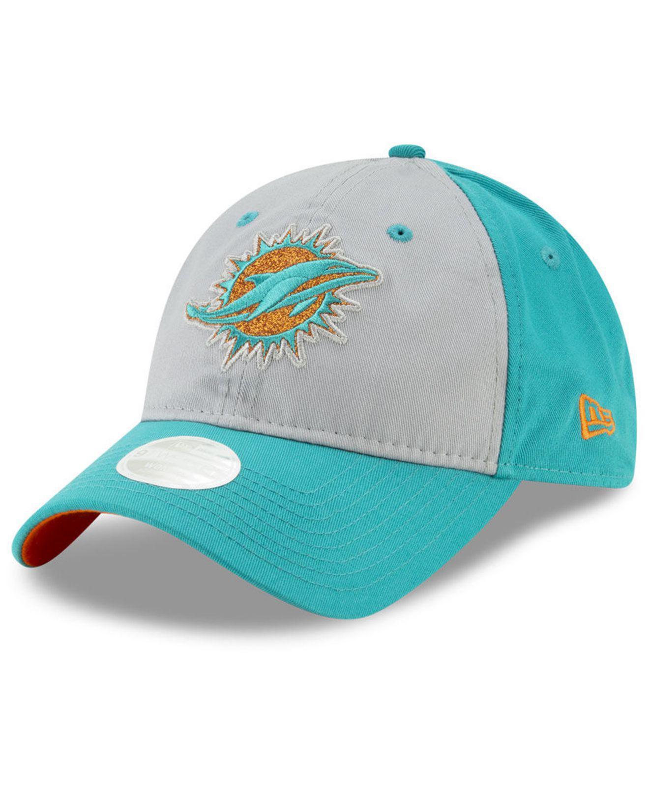 wholesale dealer 80074 97662 ... Miami Dolphins Gray Glitter 9twenty Cap - Lyst. View fullscreen