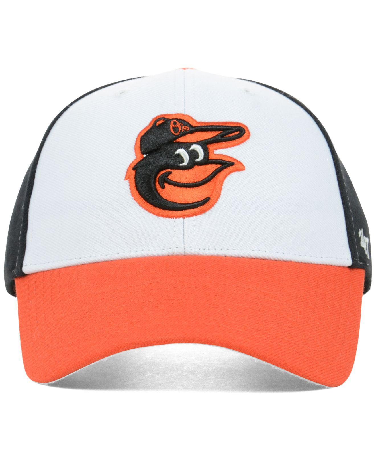 check out a6247 ae18e ... spain lyst 47 brand baltimore orioles mlb mvp curved cap in black for  men 1ca4b d2ed6