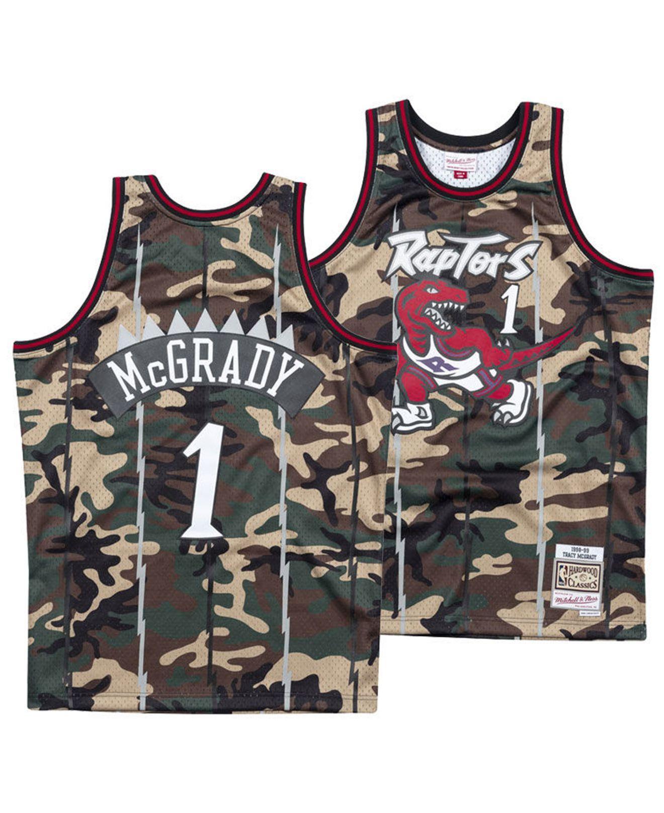 75eef2b6098 Mitchell   Ness - Multicolor Tracy Mcgrady Toronto Raptors Woodland Camo  Swingman Jersey for Men -. View fullscreen