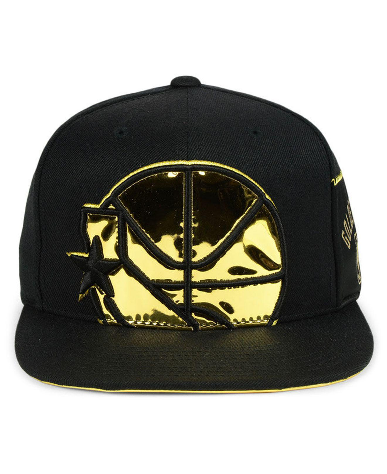 9311cc1d433548 ... store lyst mitchell ness golden state warriors patent cropped snapback  52cc0 f8297