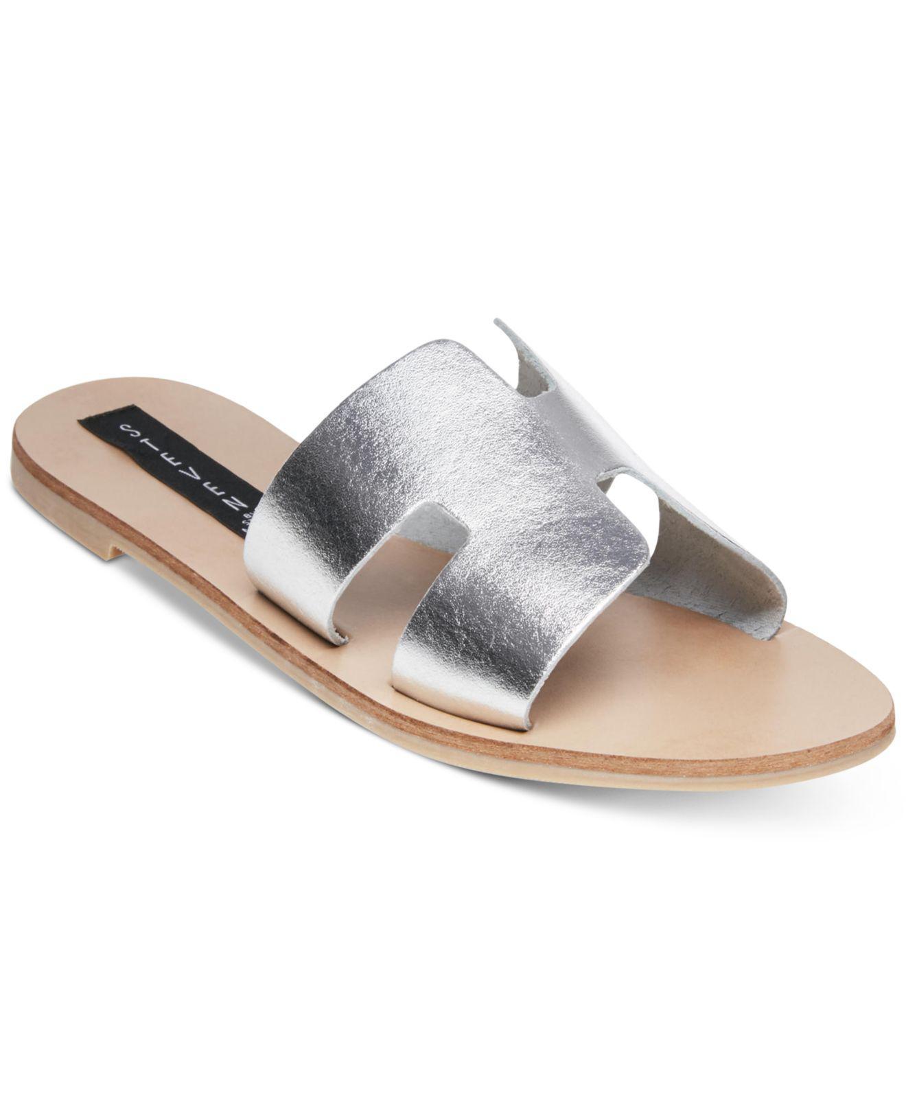 6e0940a1ff4 Lyst - Steven by Steve Madden Greece Sandals in Metallic