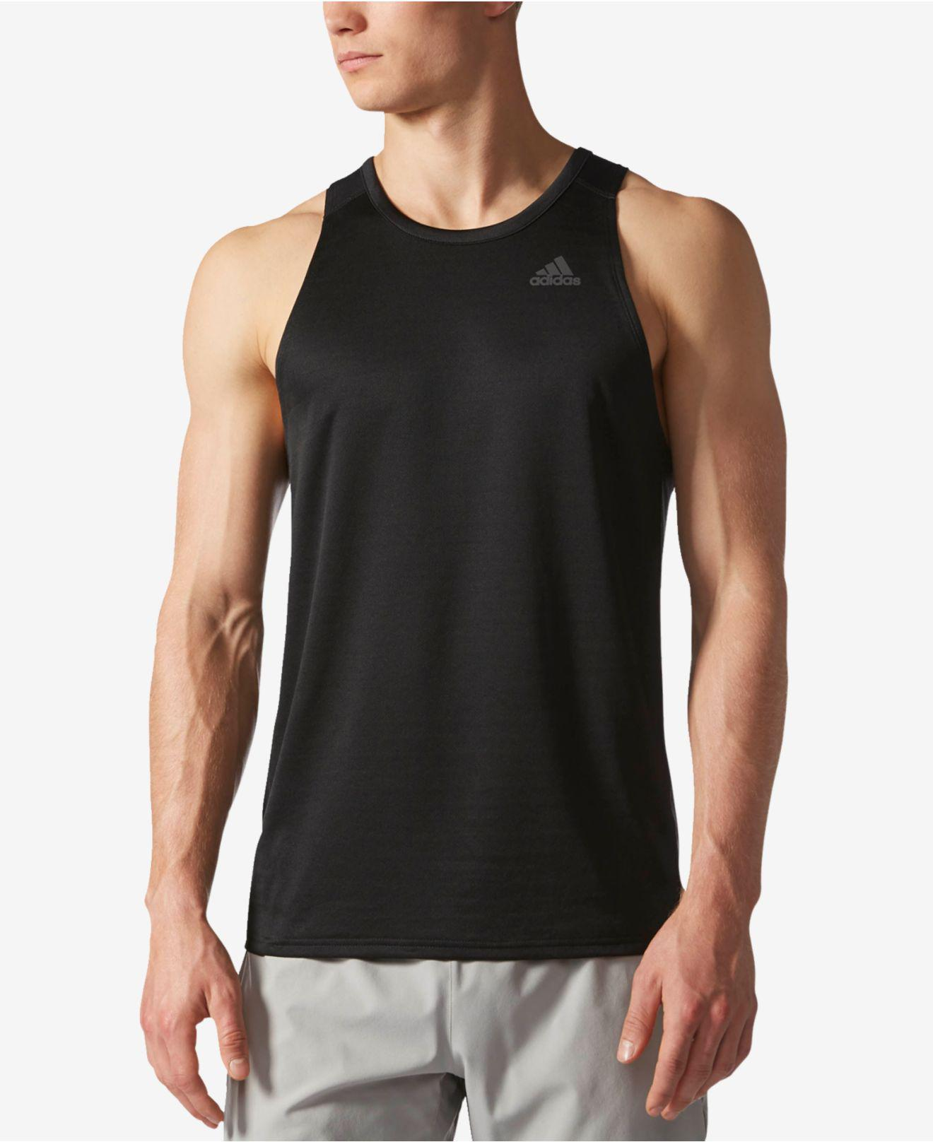 Lyst Adidas hombre 's Racerback ClimaLite® Tank Top In negro para hombres