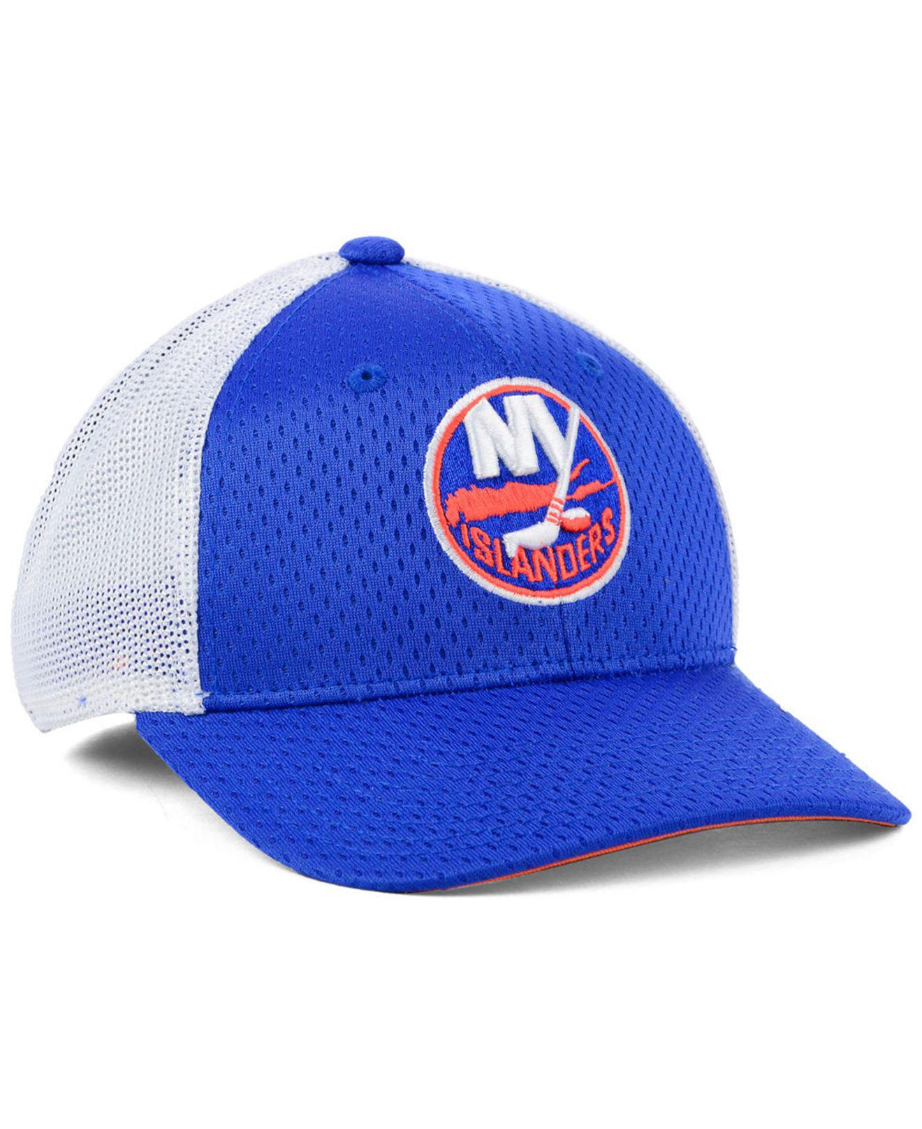 quality design 4552f ea5bb ... coupon code for lyst adidas new york islanders nhl mesh flex cap in  white for men