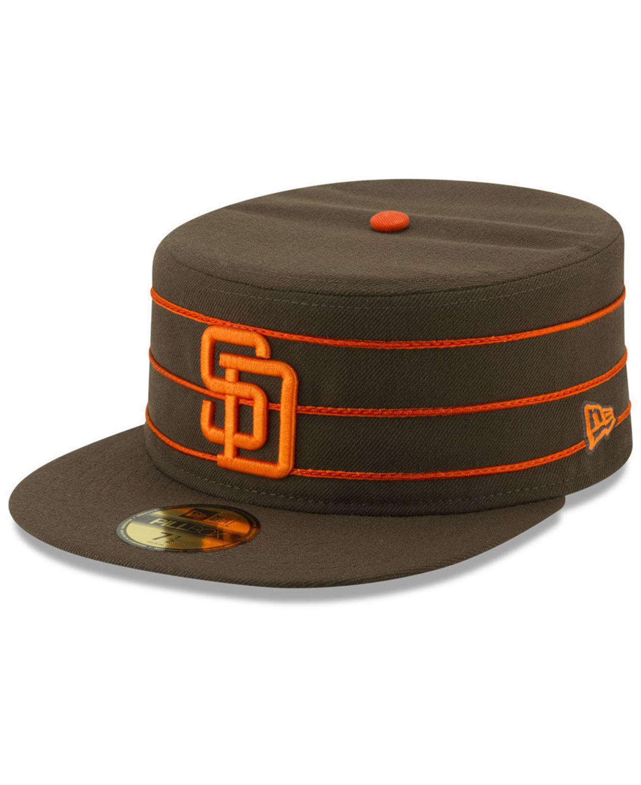 Lyst - KTZ San Diego Padres Pillbox 59fifty-fitted Cap in Brown for Men a93071a16