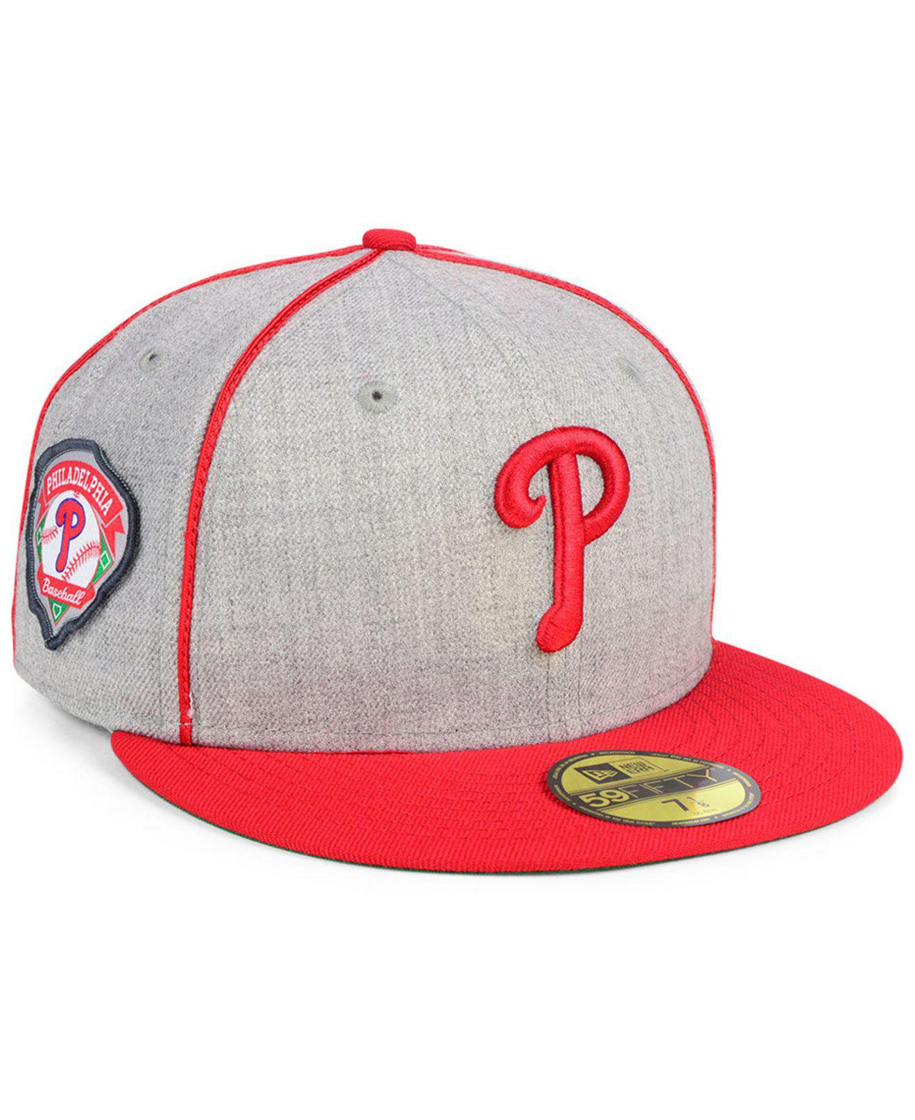 c54a6fea16c KTZ - Red Philadelphia Phillies Stache 59fifty Fitted Cap for Men - Lyst.  View fullscreen